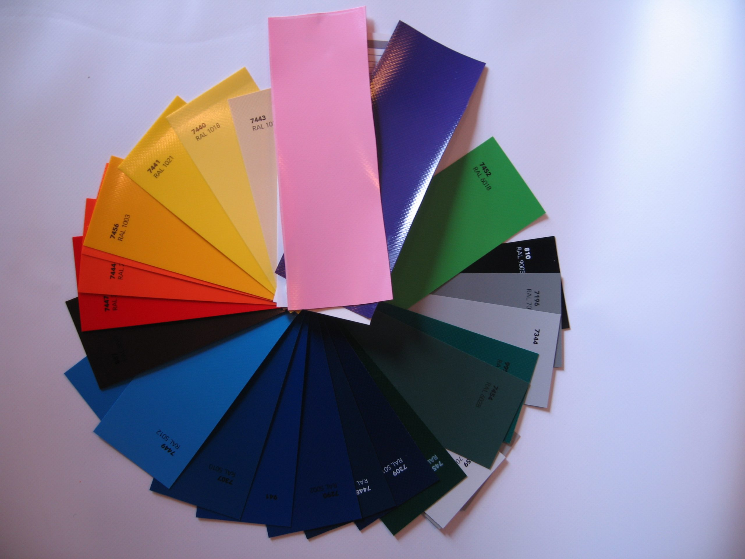 coloured pvc